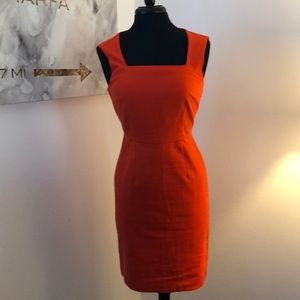 Only worn once stunning Banana Republic red dress
